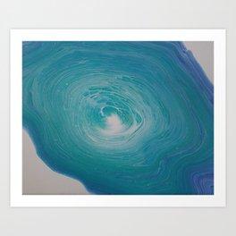Blue Vortex Art Print