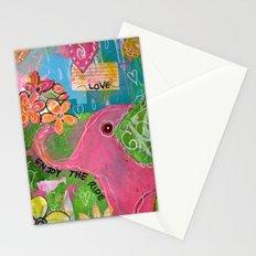 Amazing You Pink Elephant Stationery Cards
