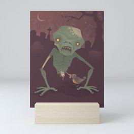 Sickly Zombie Mini Art Print