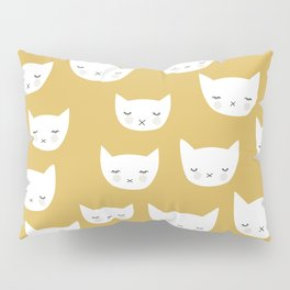 Sweet sleepy kitty cats kawaii baby animals kids pattern Pillow Sham