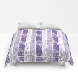 Lilac watercolor paint brushstrokes confetti stripes Comforters