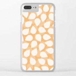 Sakura Petal Snow Light Orange Spring Pattern Clear iPhone Case