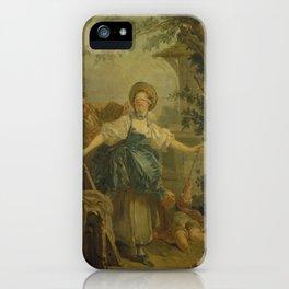 The Triumph of Love by Jean-Honoré Fragonard iPhone Case