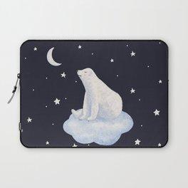 white bear on the cloud Laptop Sleeve