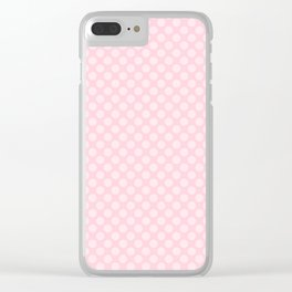 Soft Pastel Pink Large Spots Clear iPhone Case