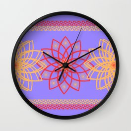 Stylized flowers Wall Clock