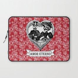 Amor Eterno | Eternal Love | Red and Black Laptop Sleeve