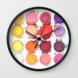 Messy Watercolors Wall Clock