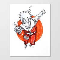 naruto Canvas Prints featuring Naruto by jas_sparks