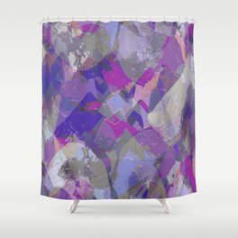 Moon Beam Abstract Shower Curtain
