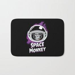 Space Monkey Retro Black Bath Mat
