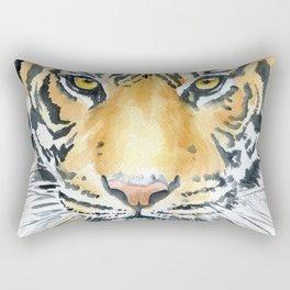Tiger Watercolor Painting Rectangular Pillow