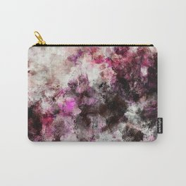 Modern Abstract Painting in Purple and Pink Tones Carry-All Pouch