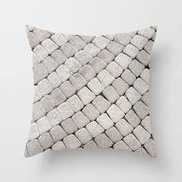 Pattern stone pavement Throw Pillow