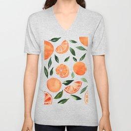 Summer oranges Unisex V-Neck