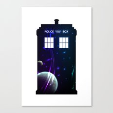 Space in TARDIS Canvas Print