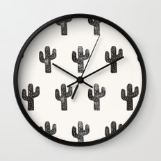 Stamped Cactus Wall Clock