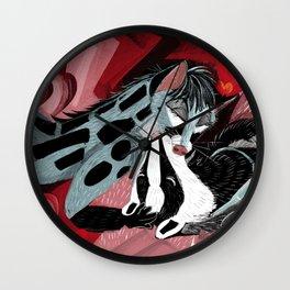 Strange Love: Genette & Badger Wall Clock