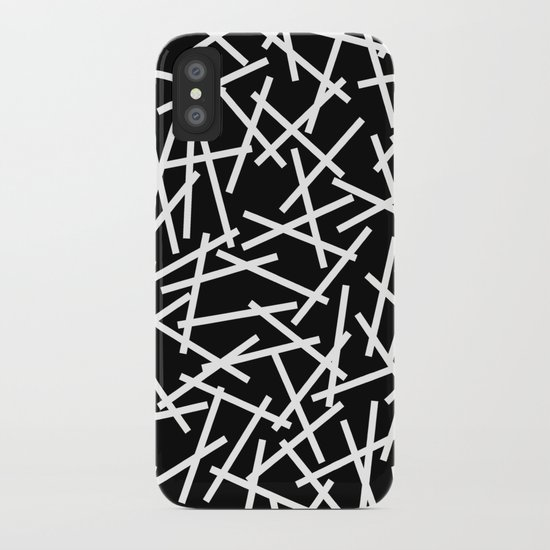 Kerplunk Black and White iPhone Case