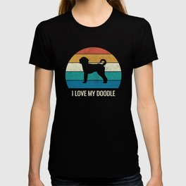 Retro Labradoodle Gift I Love My Doodle T-shirt