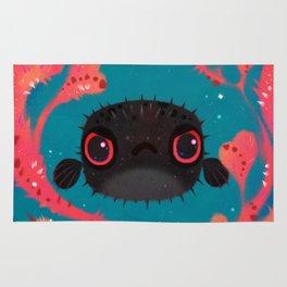 Angry puffer Rug