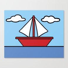 The Simpsons Sailboat Canvas Print