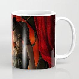 Steampunk, wonderful steampunk lady in the night Coffee Mug