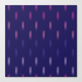 navy rainbow lines Canvas Print