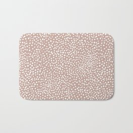 Little wild cheetah spots animal print neutral home trend warm dusty rose coral Bath Mat