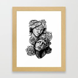 Hell vs. Paradise Framed Art Print