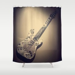 Héroe de la Guitarra Shower Curtain