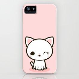 Kawaii Kitty 3 iPhone Case