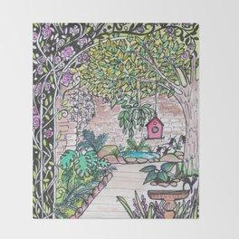 Val's Beautiful Garden Throw Blanket