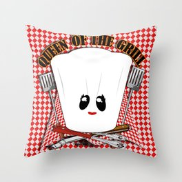Queen of the Grill Throw Pillow