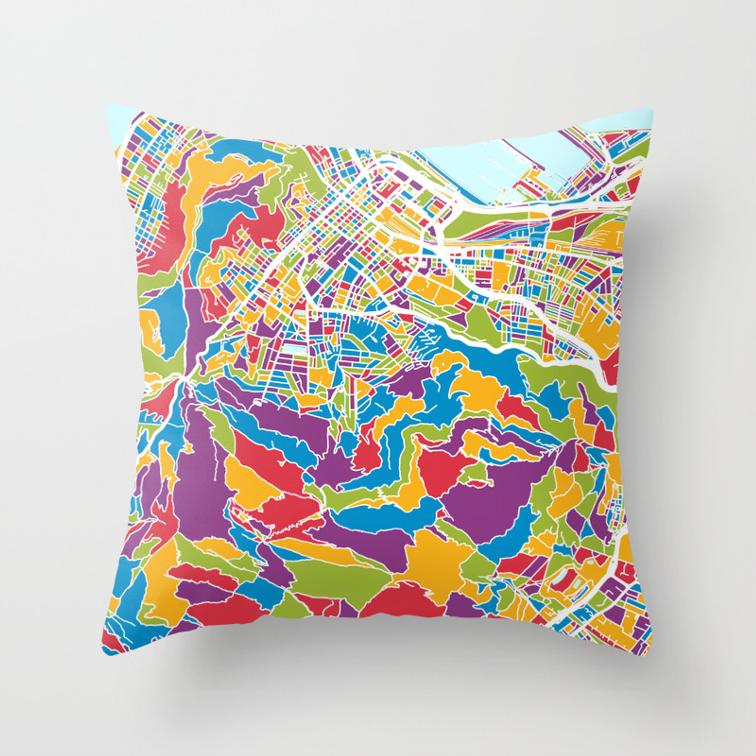 Cape Town South Africa City Street Map Throw Pillow By Artpause Society6