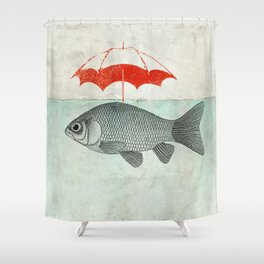 Umbrella Goldfish Shower Curtain