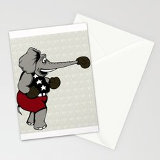 Boxing Elephant Stationery Cards