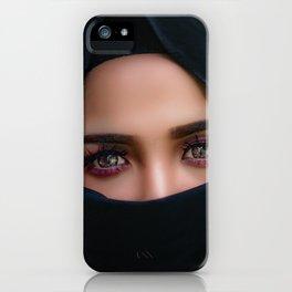 Wonderful Pretty Muslima Head Scarf Girl Veil Face Cover Mask UHD iPhone Case