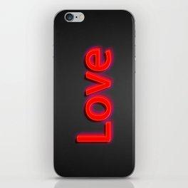 Just Love iPhone Skin