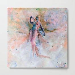 Space Siren Metal Print