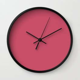 Hot Pink - Pairs To Sherwin Williams 2020 Trending Color Eros Pink SW6860 Solid Color Wall Clock