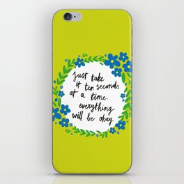 Ten Seconds - Lime iPhone Skin