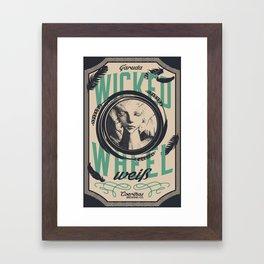 Wicked Wheel Weiß    FFXIV Framed Art Print