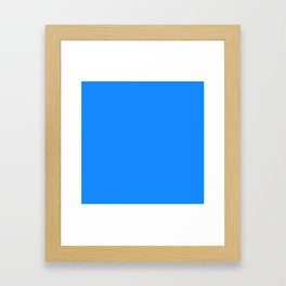 Solid Bright Dodger Blue Color Framed Art Print