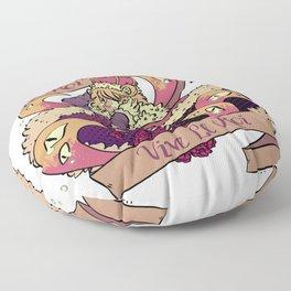 Le Roi Est Mort Floor Pillow