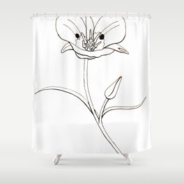 Mariposa Lily Shower Curtain