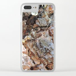 TEXTURES: Weeping Big Cone Pine Bark Clear iPhone Case