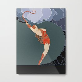"Art Deco Illustration ""The Dancer"" by Erté Metal Print"