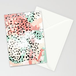 Phoebe - abstract painting minimal gender neutral trendy nursery decor home office art Stationery Cards