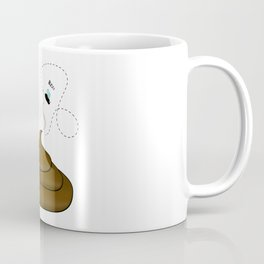 Smelly poop with flies illustration Coffee Mug